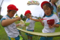 流しソーメン(秋田県秋田市の楽しい幼稚園 新屋幼稚園)食育