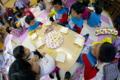 フルーツサンド作り(秋田県秋田市の楽しい幼稚園 新屋幼稚園)食育