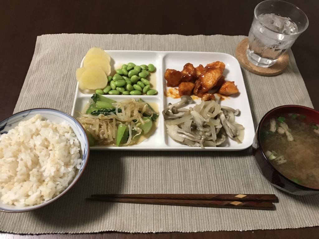 4種の作り置き定食