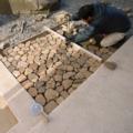中庭と水盤|工事中