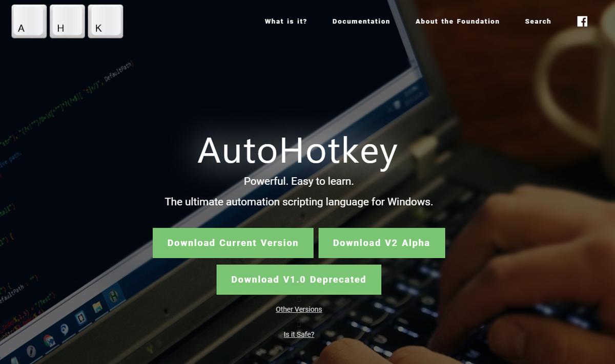 AutoHotKeyダウンロードページ