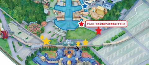 東京ディズニーランド手荷物検査位置