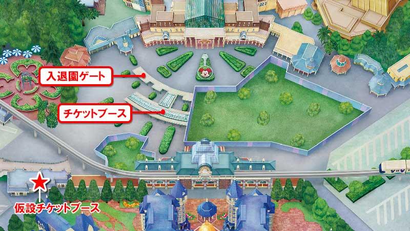 東京ディズニーランド中央エントランス地図