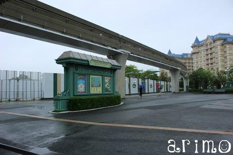 東京ディズニーランドバス停付近