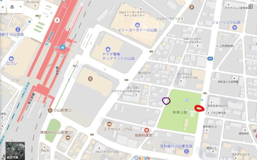 駅東公園-周辺地図