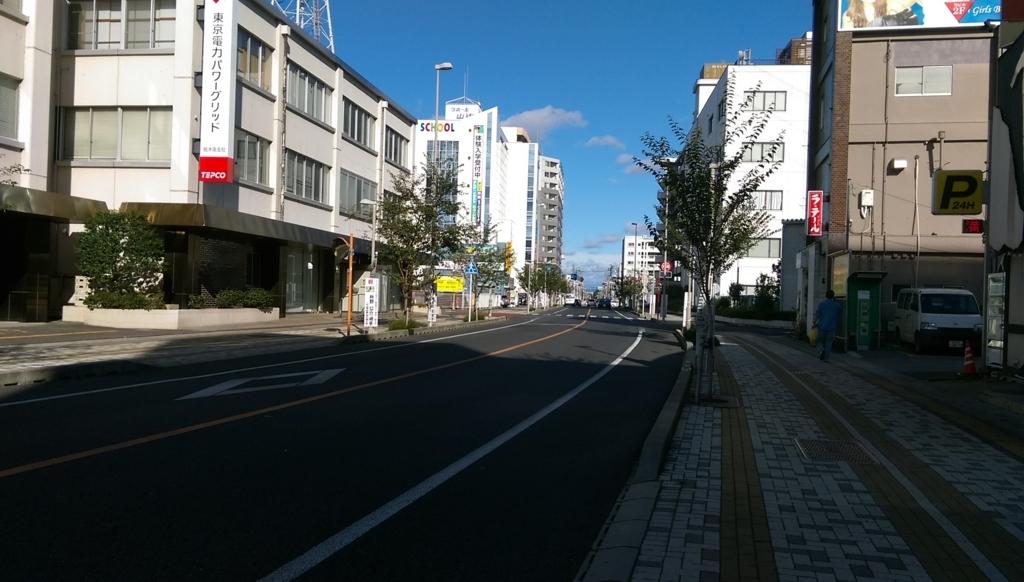 小山駅東口-道