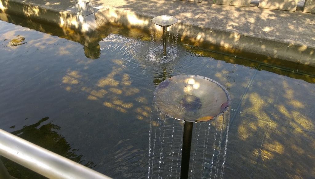 新長島川親水公園-噴水