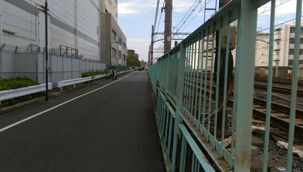 左手には山手線や京浜東北線が、右手には東北本線