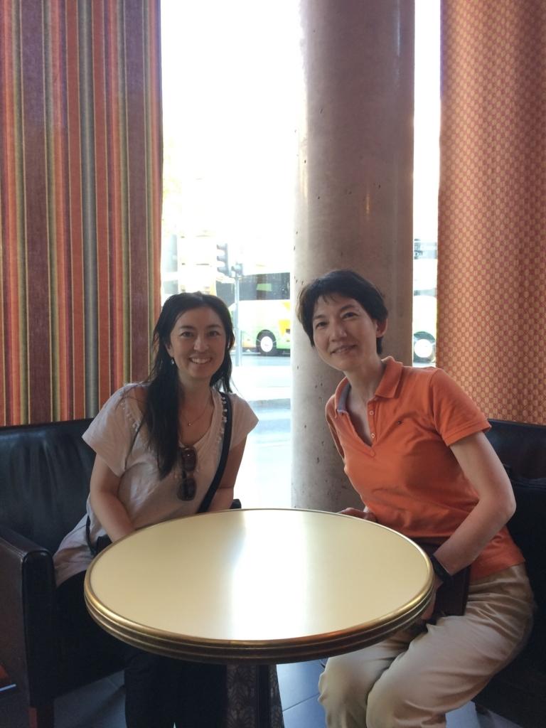 リヨンのホテルにて栗栖智美先生とツーショット