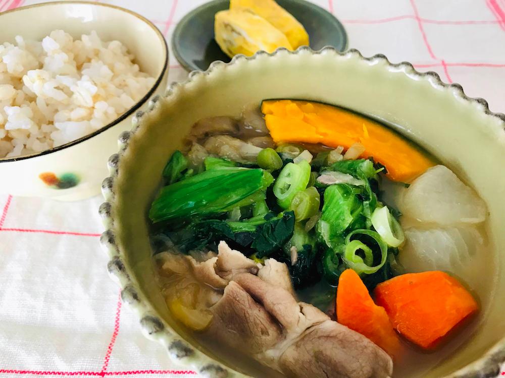 ベジ活スープ食豚汁献立