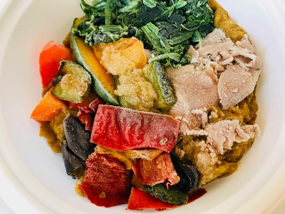 野菜を楽しむスープ食カレー冷凍