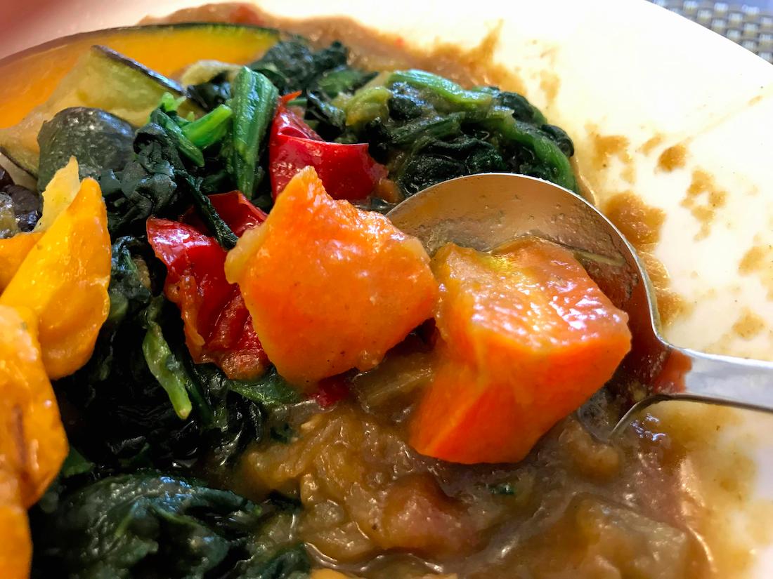 ベジ活スープ食カレー彩りきれい