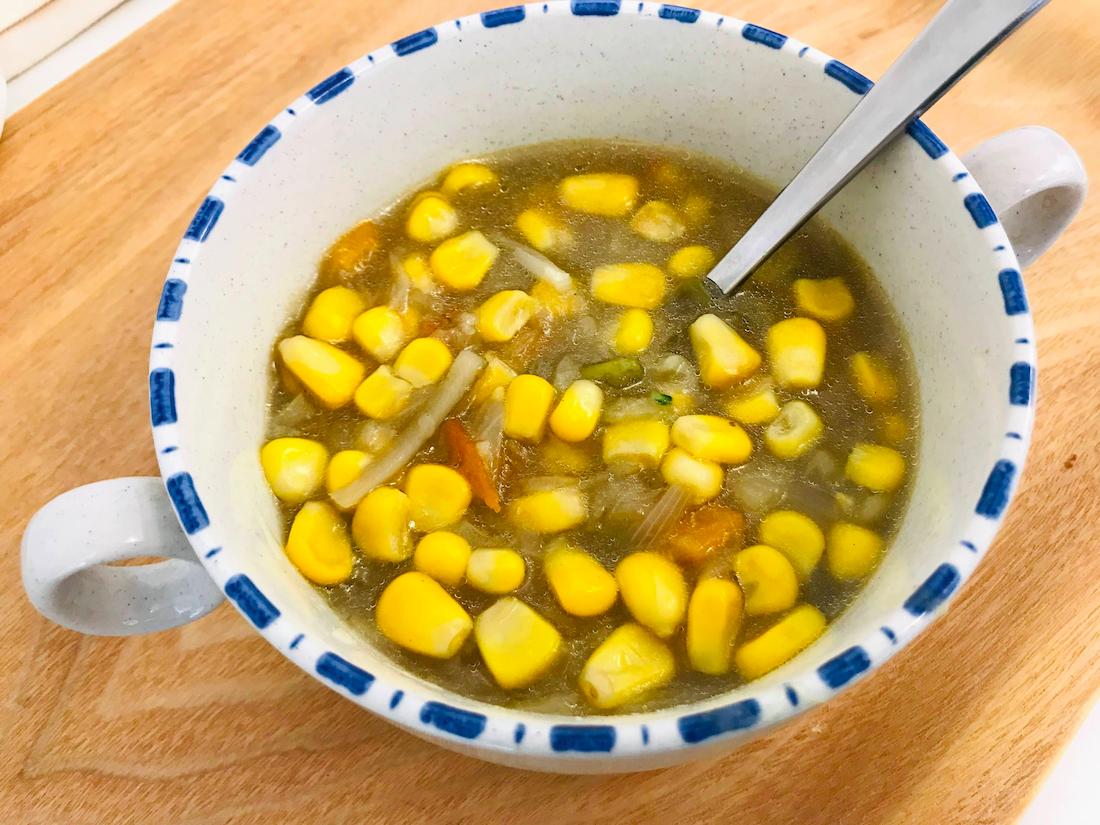 ベジ活スープ食ミックス野菜コーン多い