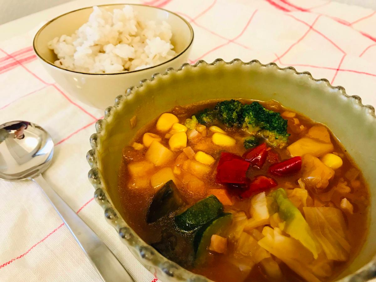 ベジ活スープ食ミネスト見た目