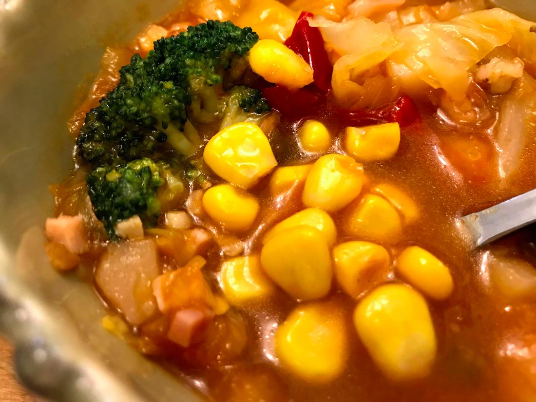 ベジ活スープ食ミネストコーン