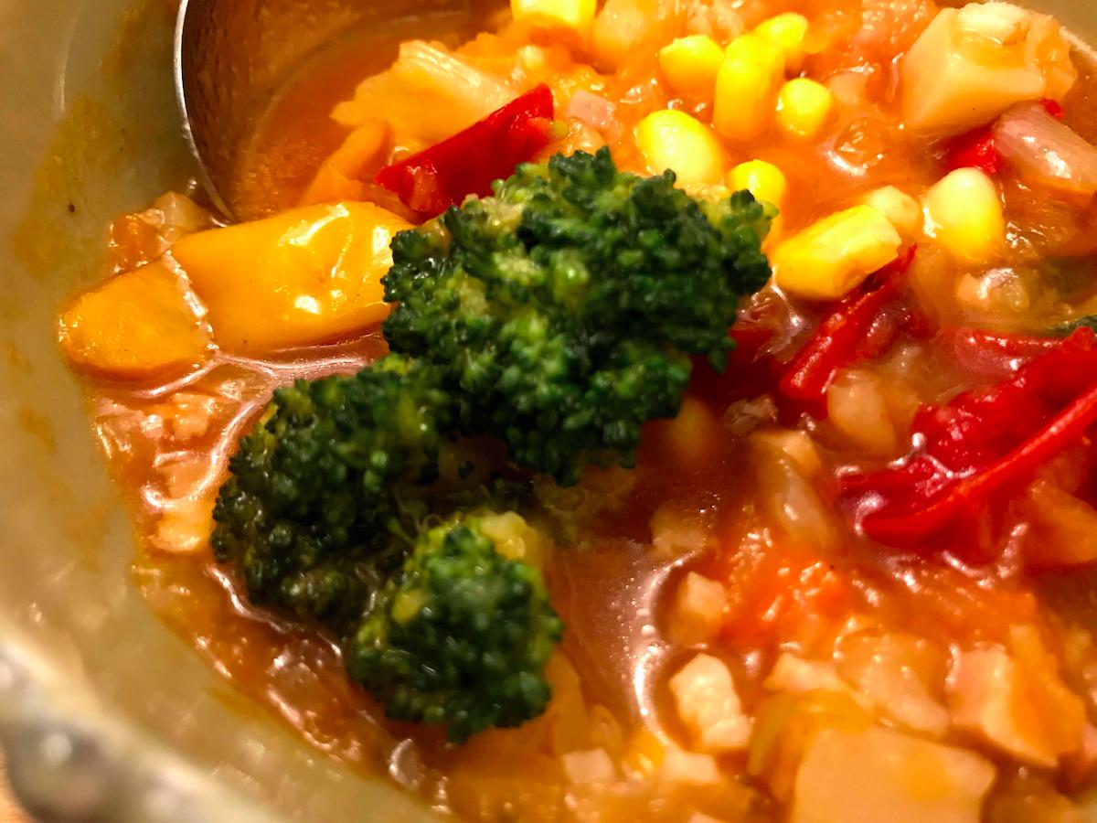 ベジ活スープ食ミネストのブロコッリー