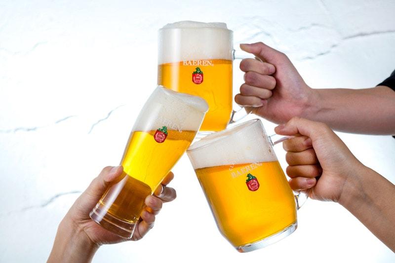 ベアレンビール乾杯