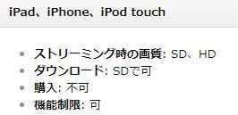 iPadでプライム・ビデオをダウンロードするとSD画像になる