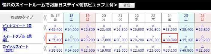 ホテルピエナ神戸 宿泊料金