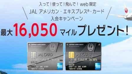 JAL アメリカン・エキスプレス・カードは最大で16,050マイルを獲得が出来るので、ただで国内往復の特典航空券の獲得は出来る
