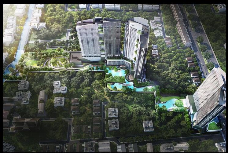 バンコクにあるエアビーで予約できる快適ノマド向けマンションのプール