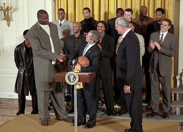 ブッシュ大統領との身長比較