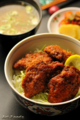 鶏胸肉のソースかつ丼