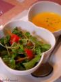 「ミルポワ」-2-サラダとスープ