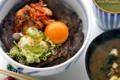 牛肉の漬け焼丼_090518
