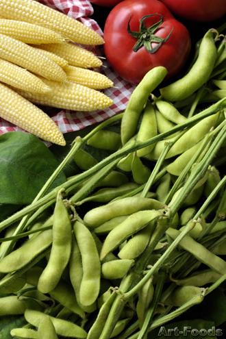 初夏の野菜(枝豆)