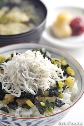 野沢菜しらすゴハン