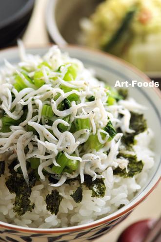 しらす蕪菜飯