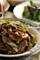 鴨パストラミと焼ネギの蕎麦パスタ