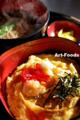 かき揚げ丼と蕎麦のセット@かわべ_091220