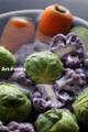 芽キャベツと紫カリフラワ_100217