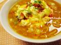 惣菜ラー油&卵白チーズ焼のせ味噌ラーメン_110127