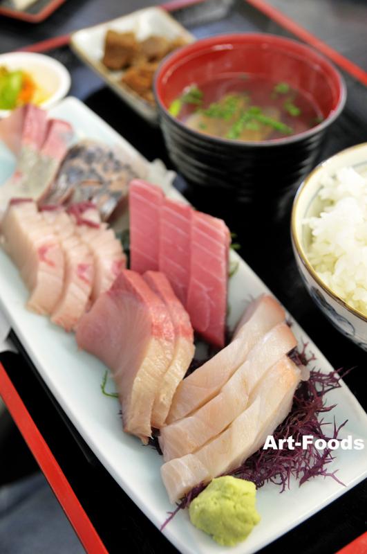 地魚六点盛刺身定食@与作鮨_110306