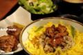 鶏そぼろ丼ランチ@とりでん_110529