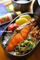 紅鮭と松前野沢菜の弁当_111109