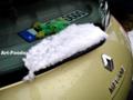 雪メガーヌのリアビュー_120117