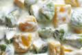 キウイフルーツとマンゴーのヨーグルト_120118