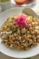味付挽肉の炒飯_120226