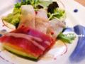 地魚と野菜のカルパッチョ_120815
