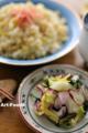 ラディッシュの塩糀漬とテキトー炒飯_121215
