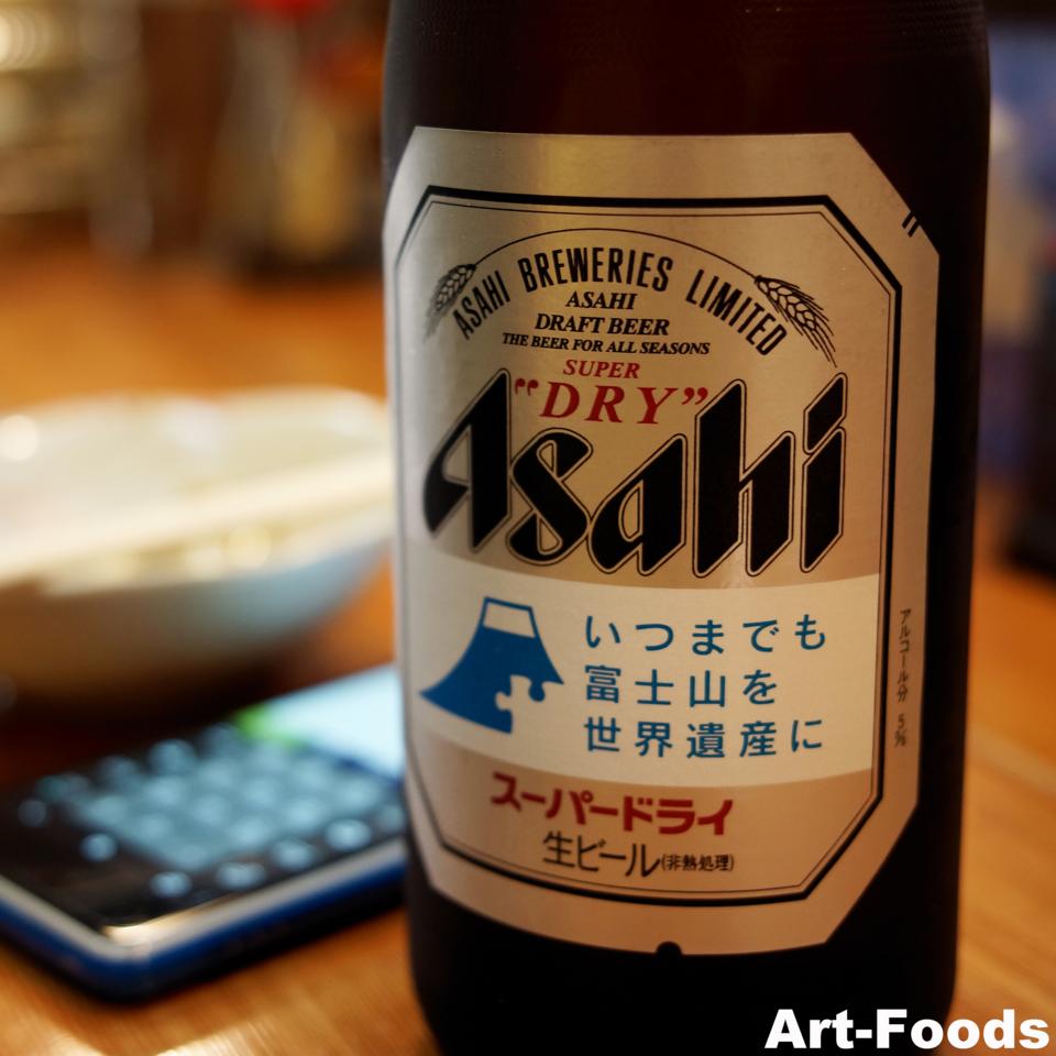 瓶ビールのラベルに@わかめ_130810