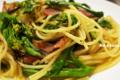 アスパラ菜のパスタ_131030