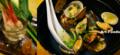 葉生姜と浜名湖アサリの酒蒸し_140510