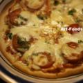 フレッシュトマトとモッツァレラチーズのピッツァ_160103