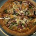 菜の花とパンチェッタのピッツァ_160312
