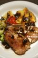 ローストビーフのオニオンソース・焼野菜添え_160611